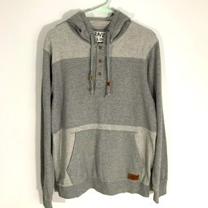 ✨3 for $20 DRAVUS GRAY PATCHWORK HOODIE SIZE M